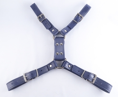 Playdate Chest Harness purple bondage by ASLAN Leather