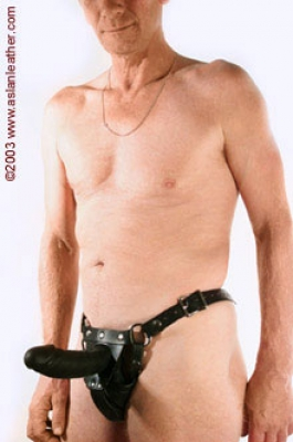 Men's dildo harness ASLAN Leather