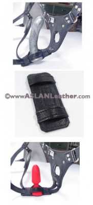 Double Up Dildo Cuff holder Aslan Leather