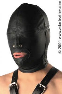 Padded Leather Hood bondage by ASLAN Leather