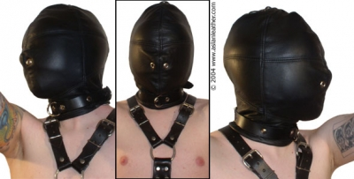 Black Out Padded Hood bondage by ASLAN Leather