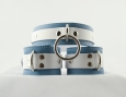 Crystal Blue Collar n Cuffs